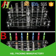 Custom Printed Clear Glass 30ml Bottle Counter Display Acrylic E liquid Juice Kiosk Plastic Dropper Bottle Display Rack/Case