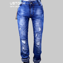 latest stretch ripped blue men pants jeans for skinny funky