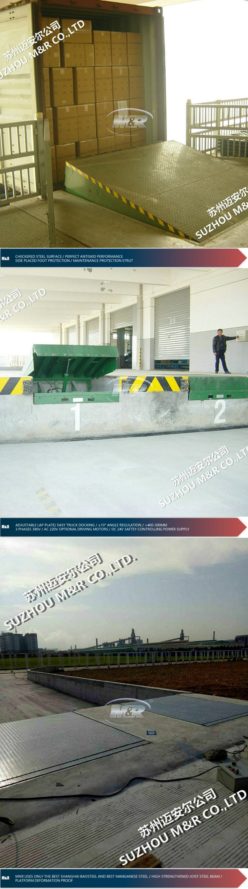 hydraulic port machinery electric container loading ramp
