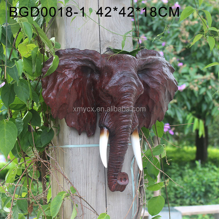 Home garden outdoor decoration elephant head for sale