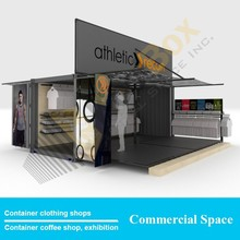 Container clothing shops Creative design, hydraulic system Mobile Shipping Container Garment shops for sale