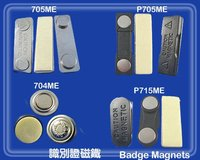 Plastic badge magnet findings/Magnetic badge attachments