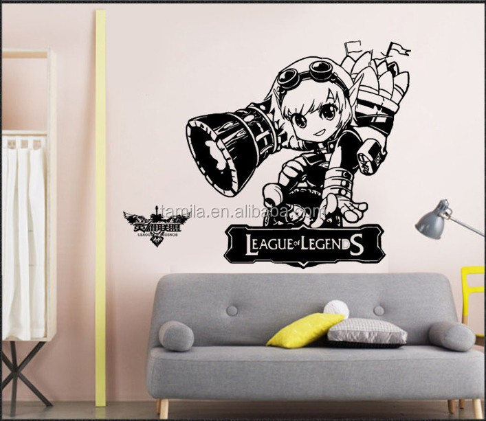 New Design League of Legends Vinyl Sticker Custom kids waterproof wall sticker