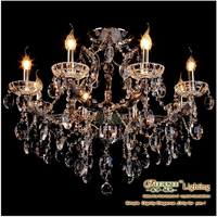 2013 Contemporary Crystal Lighting Smoky Grey Chandeliers Pendants Lights MDS56-L8+1