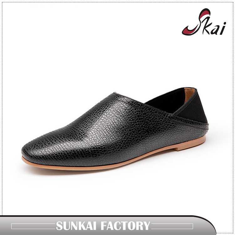 2017 new style high quality brazil imported leather women casual loafers shoes