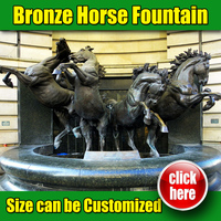 High Quality Horse Fountain for Garden Decoration (15 year foundry)
