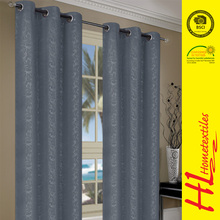 OKTEX 100 approved best home fashion wide width thermal insulated modern style leaf pattern window curtain