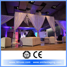 Beyond wedding pipe and drape. fabrics to decorate events