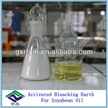 Activated bleaching earth for soybean oil