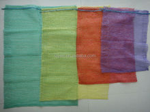 good quality PE mesh bag,red and violet raschel mesh bag for packing vegetable