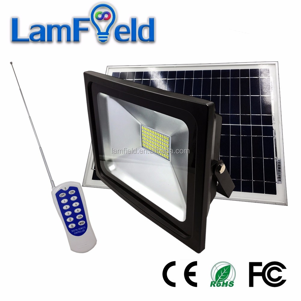 Hot Product 50W led garden solar flood light with 40W solar panel and remote control