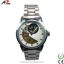 High quality skeleton and transparent japan movt mechanical watches factory