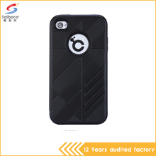 wholesale hot selling Black color hybrid armor cellphone case for apple iPhone 4 4s 4G