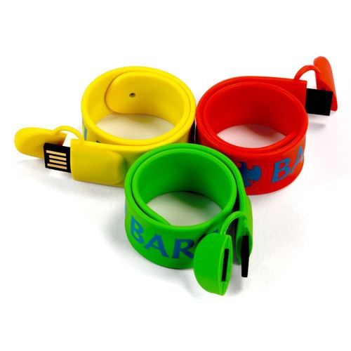 Waterproof silicone usb slap bracelet 8gb