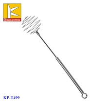New design spiral hand held attractive stainless steel wire <strong>flat</strong> egg beater danish dough miracle whisk