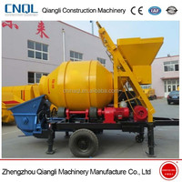 Lightweight Electric JZC350 Small Portable Concrete Mixer with Pumps