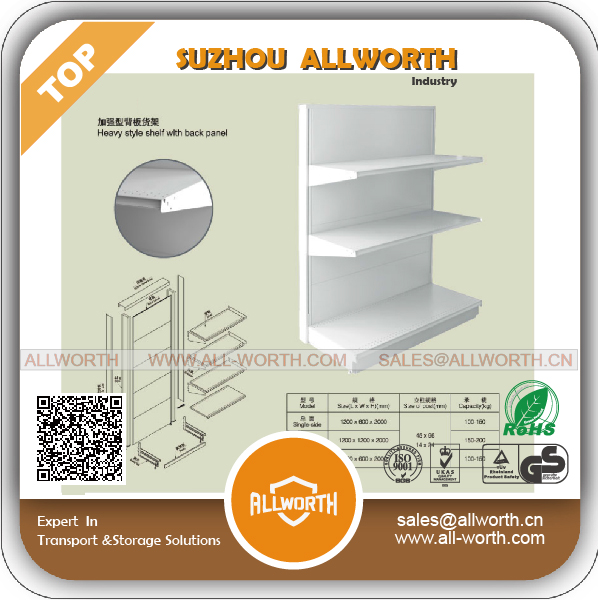 Furniture Stores Retail Display Shelving with 3D Back Panel
