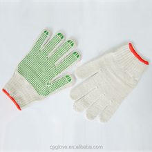 PVC dotted protective gloves, industrial use