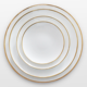 Gold rim wedding ceramic dinnerware uk, bone china white dishes, eco friendly wedding tableware