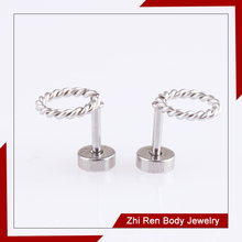 New arrival Stainless Steel O ring Earring Stud wholesale