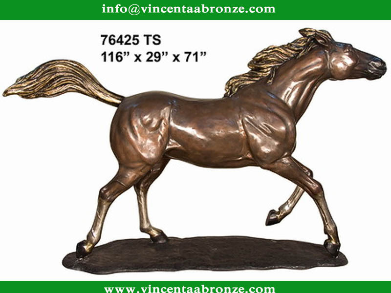 Replika bronze building decor horse sculpture