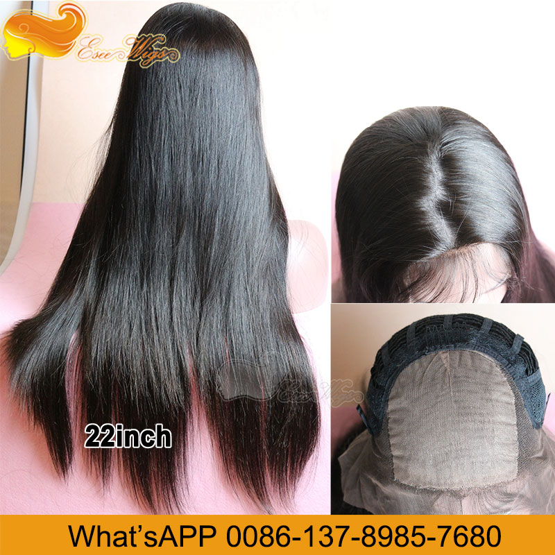 Hot Selling And Top Quality Virgin Hair Injection Silk Base Lace Wigs 8-24Inch In Stock