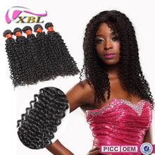 2015 Virgin No Smell 7A grade Chemical Free 22inch curly hair extensions