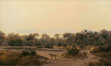 BC13-0460 Handmade African Desert Animal Oil Paintings On Canvas