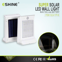 IP65 Aluminum Lamp Body 16 Led Solar Led Wall Light with Motion Sensor