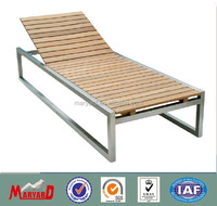 304 stainless steel waiting chairs with teak slates