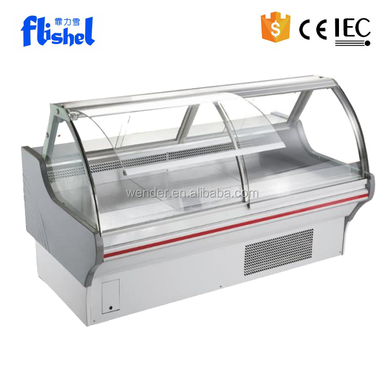 2M New Style commercial used supermarket fresh meat display chiller