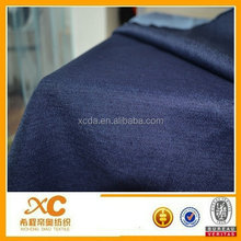 Hight stretch blue satin drill denim fabric for super skinny