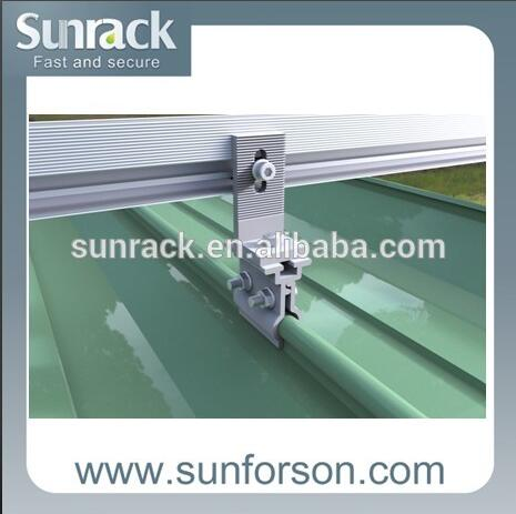 anodized aluminum standing seam roof hook for solar mounting tin roof