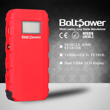 Multifunction power bank car jumper set 12000mah for up to 4.5L gas engine