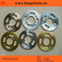 Galvenized 1045# GN125 motorcycle sprocket and accessories