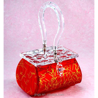 new red acrylic high top girls stylish fashion guess handbags