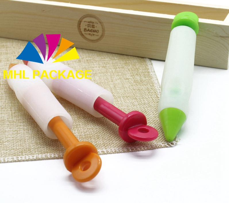 Silicone DIY Pastry Cookie Cake Decorating Pen Cream Syringe Pen
