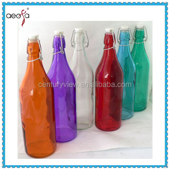 Drinking Water Food Grade 1 Liter Empty Glass Juice Bottles