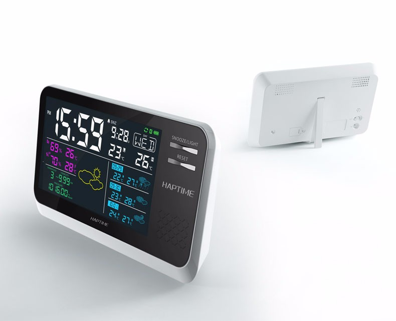 Smart crystal projection clock weather station clock