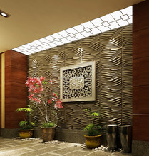 green material bamboo fiber eco-friendly 3d indoor wall panel