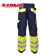 Xinke EN11611 fireproof wholesale safety used work cargo 6 six pocket pants