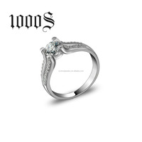 Silver Jewelry Ring Gift for Girlfriend 925 Sterling Silver Wedding Engagement Ring Wholesale Jewelry