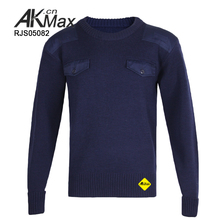 Military issue 100% wool sweaters for men 2016