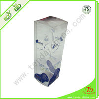 Clear pvc packaging box with customized design for shopping