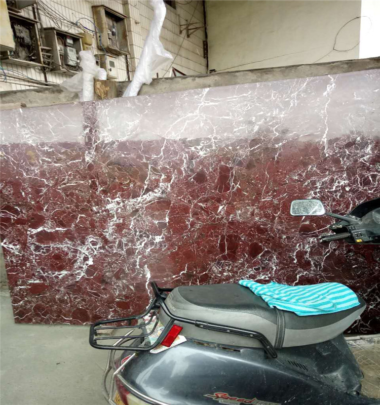 China natural Popular Indian Marble Composite Panel violet red marbl slab