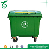 Plastic Push open industry trash barrels with wheels