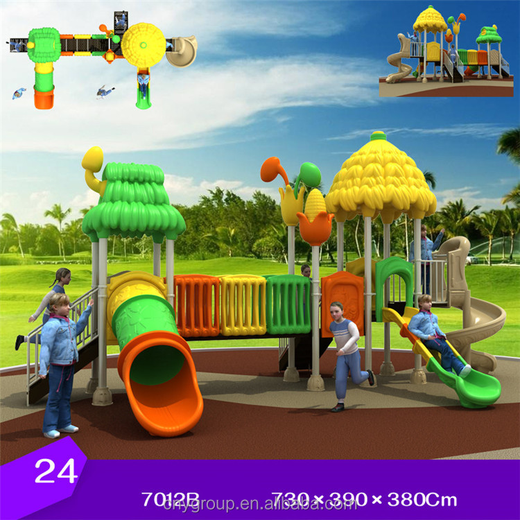 Kid's Plastic Amusement Structure Used Outdoor Playground Equipment for sale