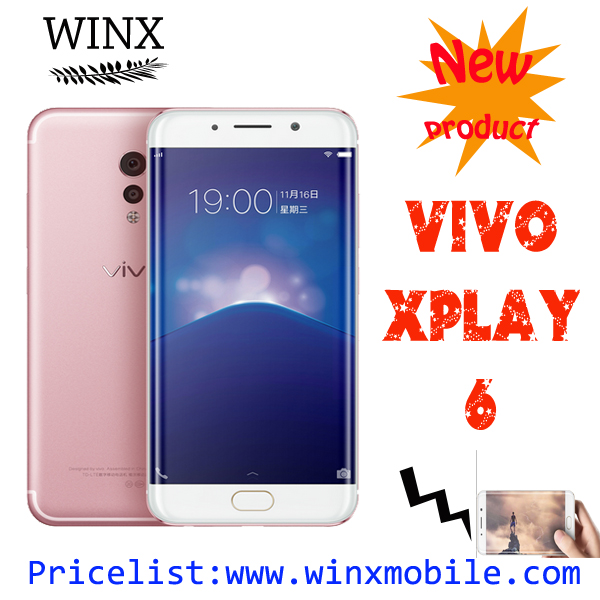 5.46 inch New product vivo xplay 6 phone mobile Snapdragon 820 6GB RAM 128GB ROM smart phone gold/pink