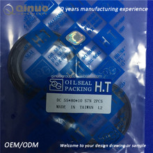 DC type 55*80*10 high quality double spring framework oil seal