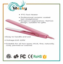 Intelligent mini travel flat iron hair straightener and curling iron with car charger battery powered hair straightener